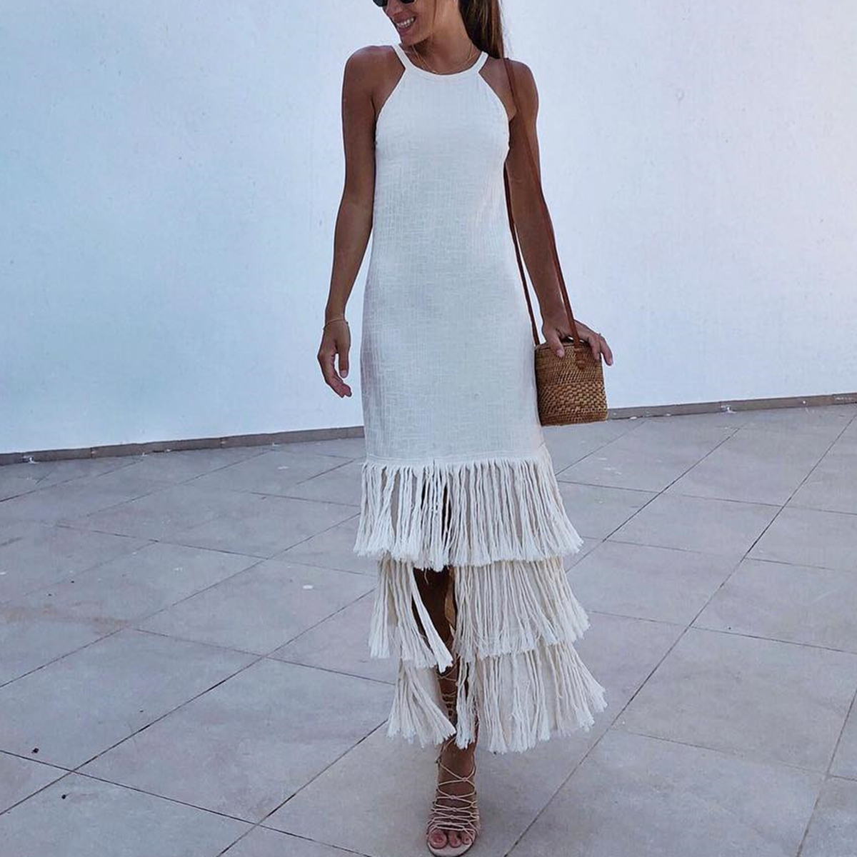 c02646f9e8b Sexy Backless Sleeveless Tassel Maxi Dress – PINKSIA