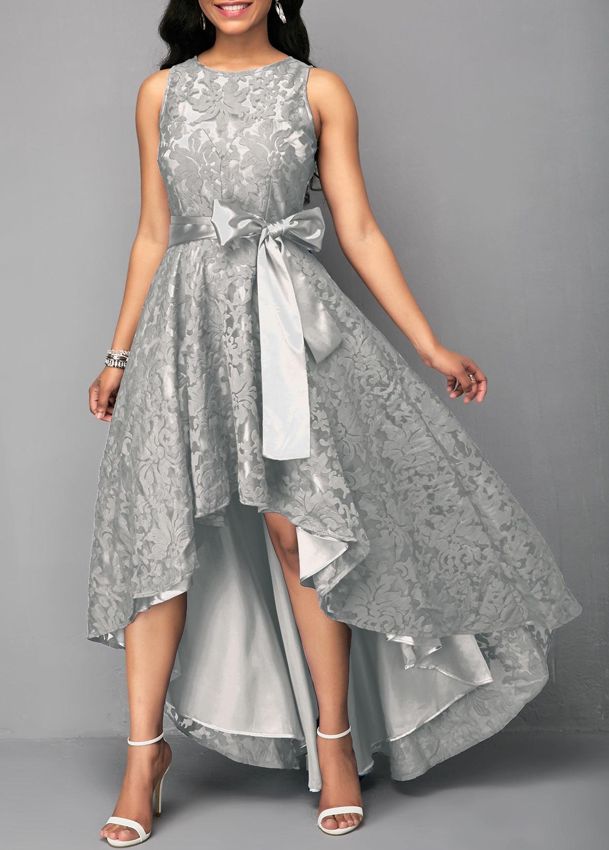 cf5a4af988f Black Lace Panel Sleeveless High Low Dress – LULULIKE