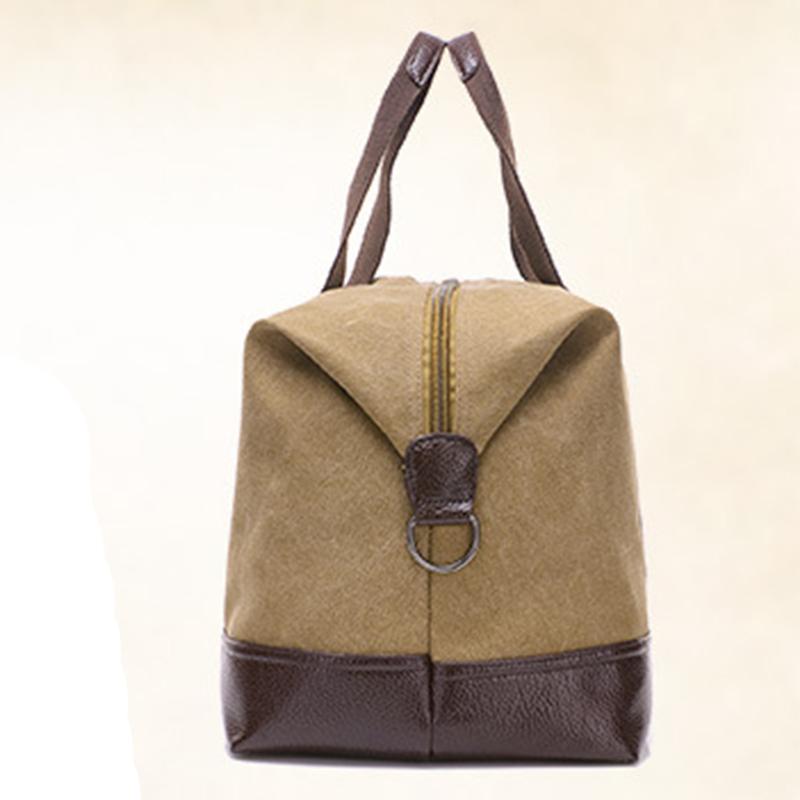 Trendy fashion canvas bag men s large-capacity shoulder bag outdoor ... e022b7b731b01