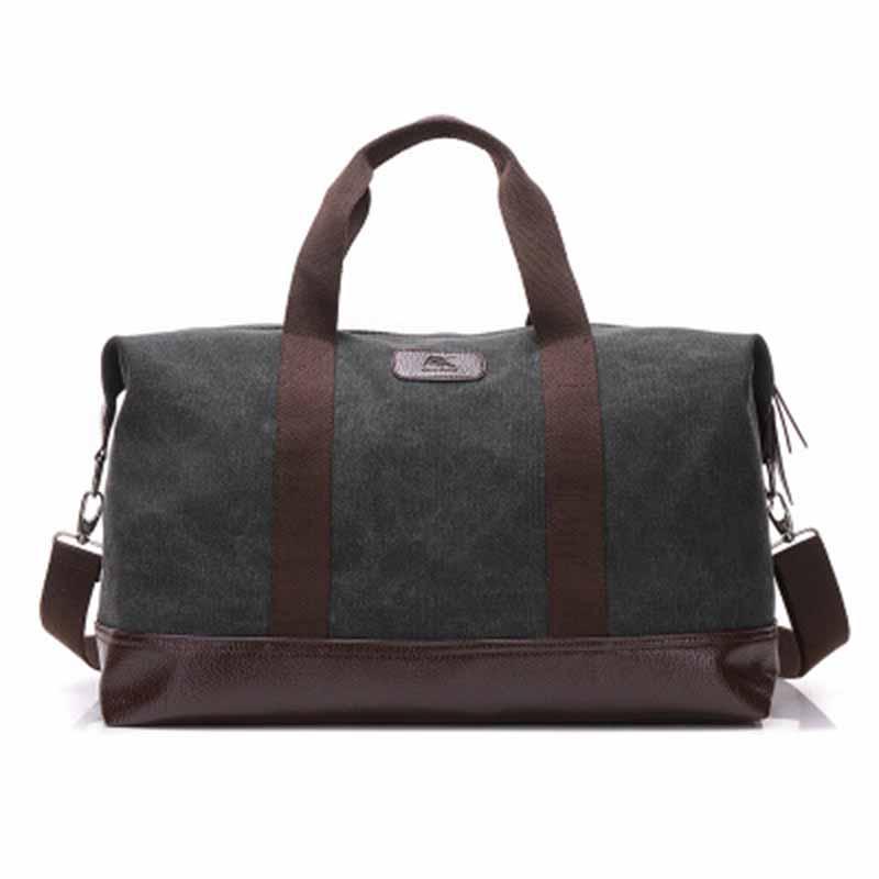 Trendy fashion canvas bag men s large-capacity shoulder bag outdoor  portable Messenger bag travel backpack 713075bb0b8bf