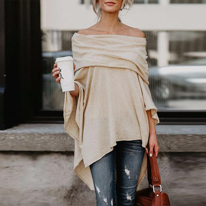 Stores Round Neck Asymmetric Hem Plain Long Sleeve Bodycon Dresses